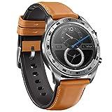 Huawei Honour Montre Magic Smart Watch 1.2 Pouces écran en Couleur Amol GPS Montre de Bracelet 390 * 390 Moniteur de fréquence Cardiaque podomètre Tracker d'exercices (Argent)
