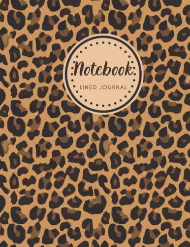 Notebook: Lined Journal | Composition Notebook | Brown Leopard Print | Cheetah notebook college ruled | 120 Pages Lined Paper | Size 8.5 x 11 inches