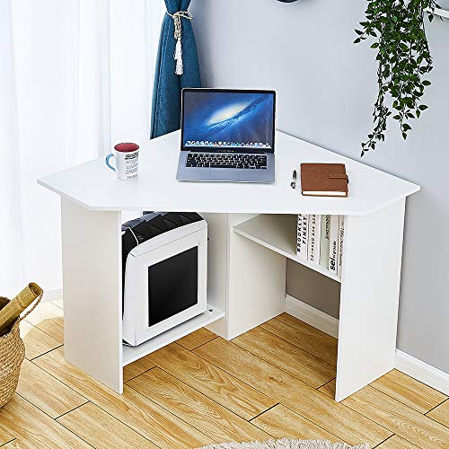 BLUE HORIZON Corner Home Office Desk PC Laptop Table...