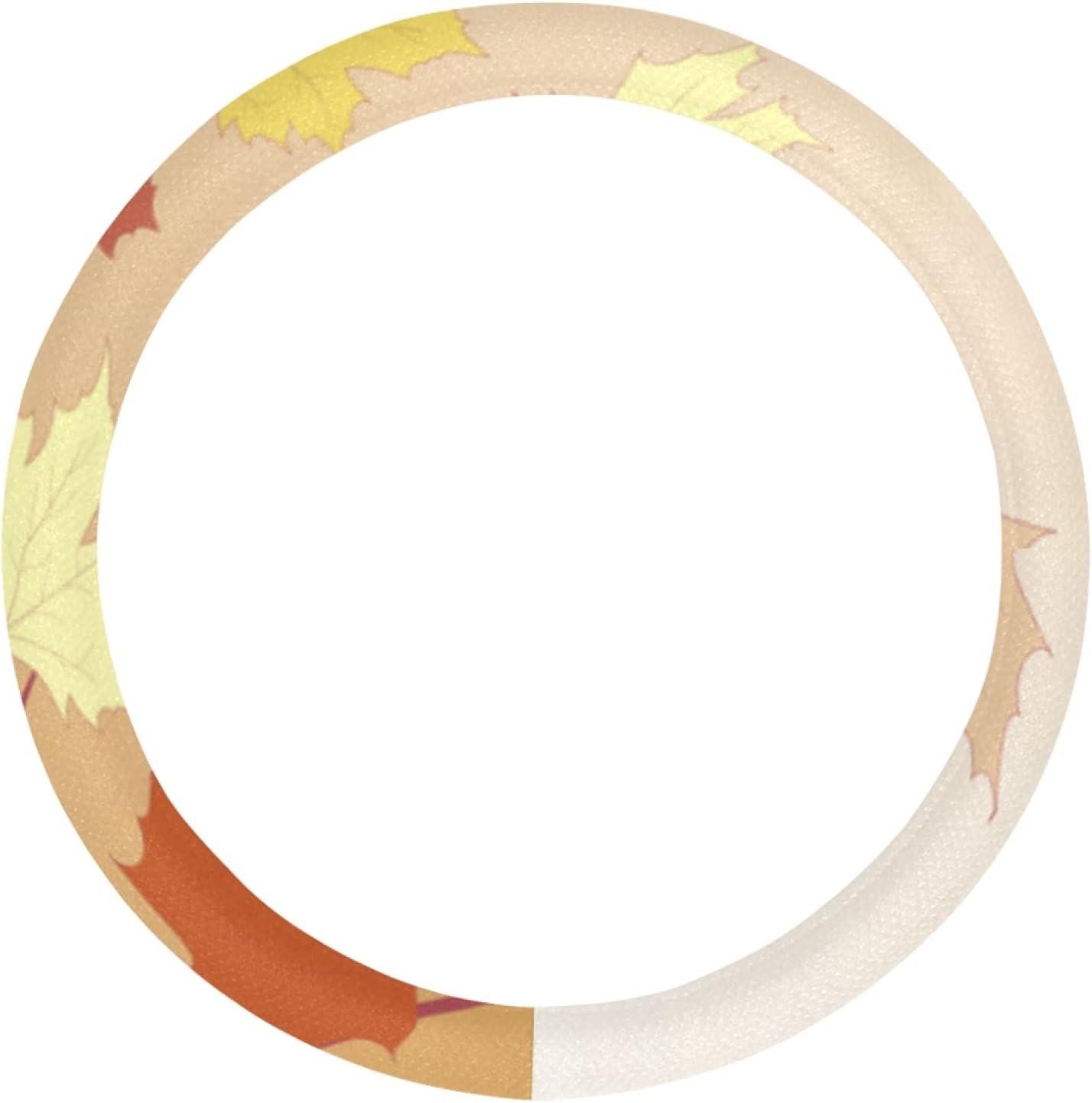 AIKENING Girls Steering Wheel Cover shipfree Orange Set Maple free Leav Autumn