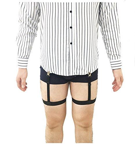 Yuccer Herren Hemdhalter Shirt Stay Hemd Strumpfb/änder G/ürtel Hemdhalterung