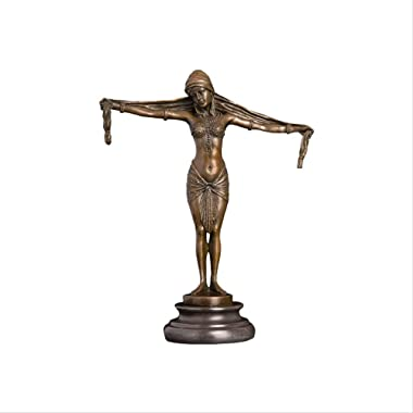 Home Decor Bronze Art Erotic Lady Open Hands Figurines for Home Decoration