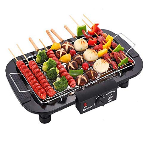 Jumix Electric Barbeque Grill Electronic PAN with Power Indicator Light - BBQ Grill Tandoori Maker (Black, 2000 Walt)