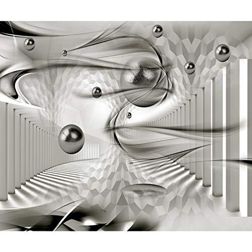 decomonkey Fototapete Abstrakt 350x256 cm XL Design Tapete Fototapeten Vlies Tapeten Wandtapete Vliestapete moderne Wandbild Wand Schlafzimmer Wohnzimmer 3d Effekt Architektur Kugeln