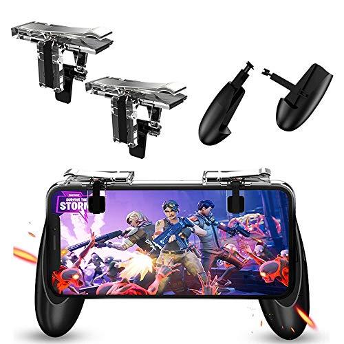Mobile Game controller, Teepao Sensitive mobile Game Trigger & Gamepad per L1R1/regole di sopravvivenza, ausiliario spara e obiettivo 4.5'-6.5' joystick per Android iOS (1 Pair)
