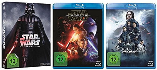 Star Wars komplett / Saga I-VI 1-6 + Erwachen der Macht + Rogue One [Blu-ray Set]