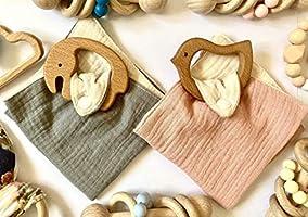 Mordedor dudu de tela y madera de haya de calidad alimentaria pájaro elefante