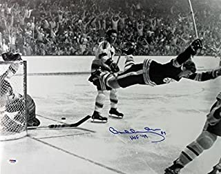 Bruins Bobby Orr 'HOF 79' Signed 1970 Stanley Cup 16X20 Photo - PSA/DNA Certified - Autographed NHL Photos
