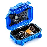 in Ear Monitor Protective Case for IEM -Waterproof / USA Made - Suitable for KZ ZS10/ZS10 Pro/ZSN/ZST/AS10/AS16/Sure SE215-CL/SE201-K (Blue)