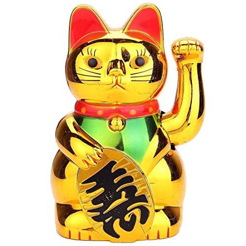 King Boutiques Maneki Neko La Riqueza Suerte Oro Maneki Neko de agitar Lindo Gato elctrico del Arte del Arte del Gato Bienvenido Inicio Tienda decoracin del Hotel