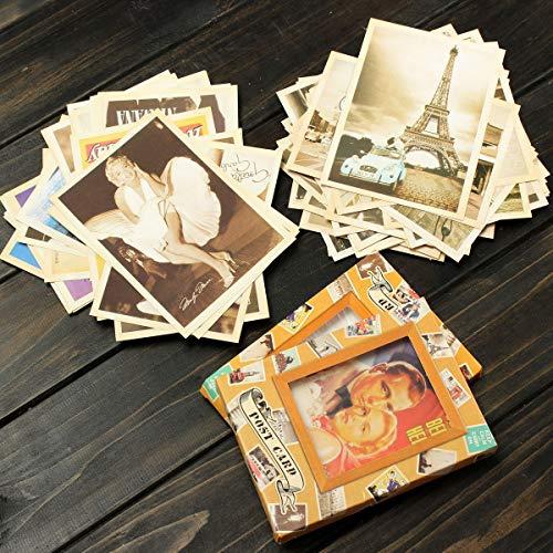WZhen Lot de 32 cartes postales de voyage vintage