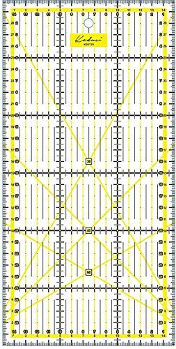 Regla para Patchwork 15x30 centímetros Transparente y milimetrada