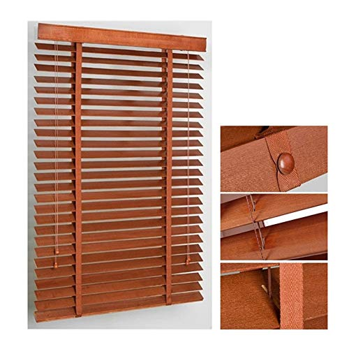 WENZHE Estores de Madera Persianas Enrollables Venecianas Cortinas - Hoja 3.5cm / 5cm Casa Balcón Decoración Regulable Estilo Chino - Talla Personalizable (Color : 50mm, Size : 50x100cm)
