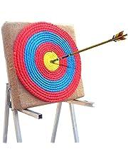 Datoong Tiro con Arco Objetivo Paja Objetivo Dardos Objetivo Prop Deporte Arco, Arco de Color Cuerda Objetivo Cara Single Capas para la práctica de Tiro