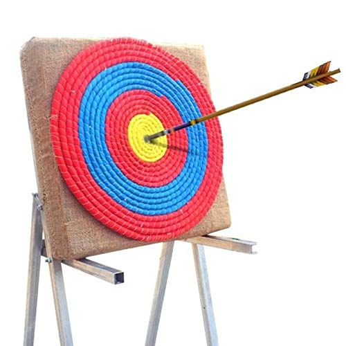 Datoong Tiro con Arco Objetivo Paja Objetivo Dardos Objetivo Prop Deporte Arco, Arco de Color Cuerda Objetivo Cara Single Capas para la práctica de Tiro (50cm de diámetro)