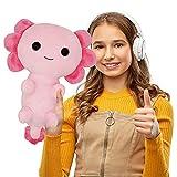 LuLezon Big Kawaii Axolotl Plush Toy Stuffed Animal Plushie Pillow Toy Doll Pink 12 inches
