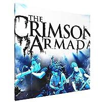 "The Crimson Armada インテリア キャンバス 絵画 家の壁 装飾画 壁飾り 壁ポスター パネル インテリア 装飾 ソファの背景絵画 16"" X 16"" 気分転換 癒し"