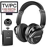 Homder Wireless Headphones 2.4 GHz Wireless Rechargeable TV Headphones with transmitter for TV
