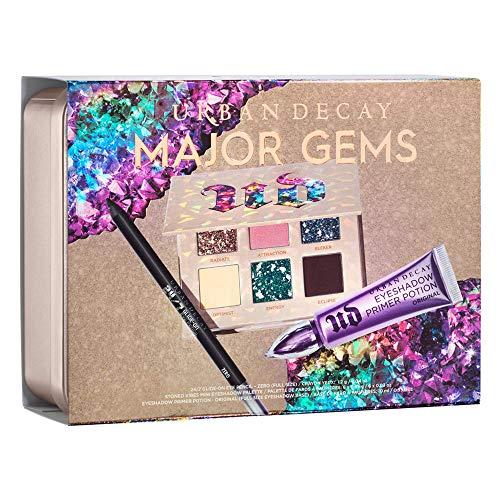 Urban Decay Stoned Vibes Major Gems Set de regalo de maquillaje – Incluye mini paleta de sombras de ojos, lápiz de ojos deslizable 24/7 (cero) y poción de imprimación original de tamaño completo