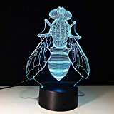 Fly The Collectible Cartoon Figure Power By USB 3D LED Night Light Lámpara de mesa Decoración de noche Regalo para niños