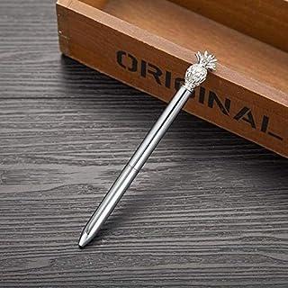 مكتب 1.0 مم معدن كاواي أناناس قلم حبر جاف (فضي) لوازم مدرسية (اللون : فضي)
