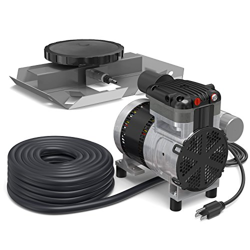 Air Pro Deluxe Pond Aerator Kit by Living Water - Rocking Piston Pond Aeration System for Up to 1 Acre - Includes: 1/4 HP Compressor, 100' Weighted Tubing, Membrane Diffuser (Without Cabinet)