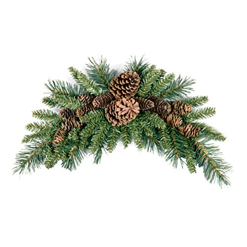 National Tree Company Pineecone Crescent, 36 in, Green