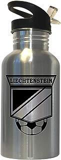 Liechtenstein Soccer Stainless Steel Water Bottle Straw Top