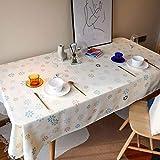 SUNFDD Tovaglia in Poliestere Panno Lavato Piccolo Giardino Fresco Tavolo da Pranzo Tavolino All'Aperto Ufficio Picnic Peluche Semplice Tovaglia Moderna 130x200cm(WxH) B