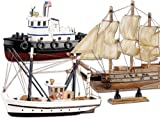 Playtastic Schiffsbausätze: 3er-Set Schiff-Bausätze Fischkutter