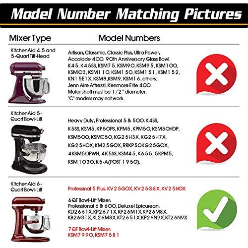 6 Quart Kitchenaid Mixer Attachments, Flex Edge Beater Paddle with Scraper for 6 QT Bowl-lift Kitchenaid Stand Mixer,Mixer Accessory Replacement