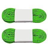 Abaodam Lacets professionnels cirés pour patins à glace - Anti-gel et anti-fracture - Pour le sport, le ski, le hockey - Vert - 248 cm