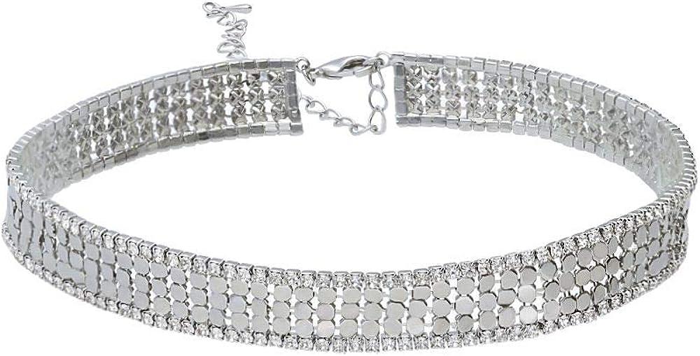 Stroili chocker  girocollo con strass in metallo rodiato color argento per donna 1666156