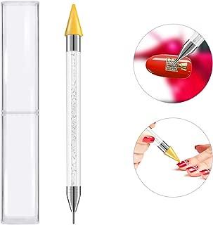 Frcolor Rhinestone Dotting Pen, Dual-ended Rhinestone Beads Picker Crystal Acrylic Handle Manicure Gem Pick Up Applicator