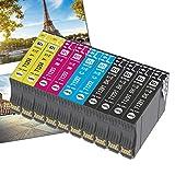 OGOUGUAN 10 T1295 - Cartuchos de tinta compatibles con Epson T1291 T1292 T1293 T1294 para Epson Workforce WF-3520 WF-7515 Stylus Stylus SX235W SX525WD SX535WD SX420W SX425W SX435W