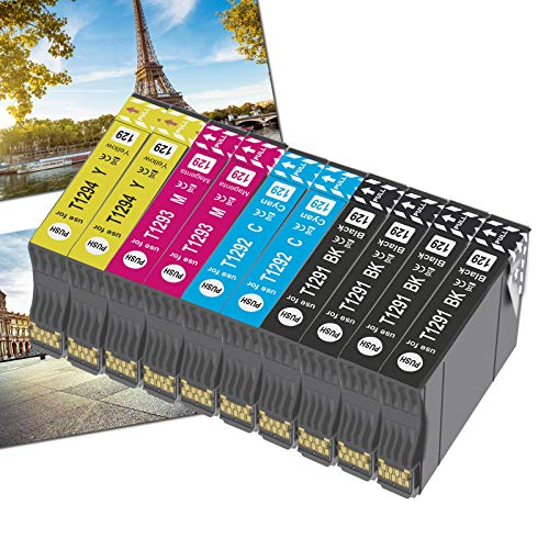OGOUGUAN 10 T1295 Reemplazo para Epson T1291 T1292 T1293 T1294 T1295 Cartuchos de Tinta Compatible con Epson Stylus SX420W SX235W SX435W SX230 SX430W SX525WD SX445W SX425W SX535WD SX440W