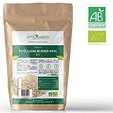 Psyllium Blond Bio - Cosses Pures à 99% - Sachet de 1 kg - amOseeds