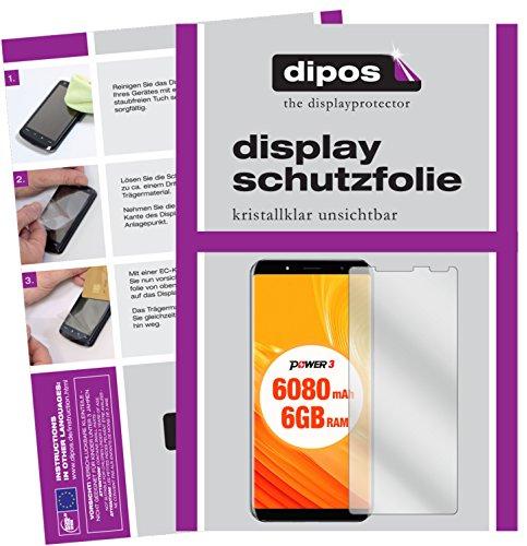 dipos I 6X Schutzfolie klar kompatibel mit Ulefone Power 3 Folie Bildschirmschutzfolie