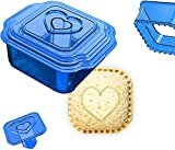 B witched Sandwich Cutter & Sealer Pocket Crustless Sandwich Maker Crustable Bread Sandwhich Cruster for Kids Breakfast lunch Bento Box accessories Panini Decruster Sandwich Maker heart shaped Cutter