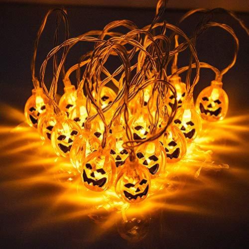 Decoraciones de Halloween Luces LED, Luces de Shantou 3D Cadena de Halloween 3,5 m 20 Garland Light Carnival Deco Decoración del hogar para la iluminación de la batería Decoración navideña Temporada