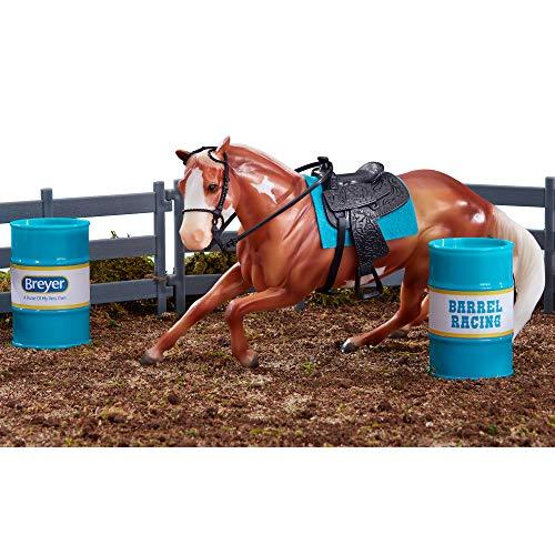 "Breyer Freedom Series (Classics) Barrel Racing Horse Playset | Model Horse Toy | 1:12 Scale (Classics) | 9"" L x 6"" H | Model #62201"