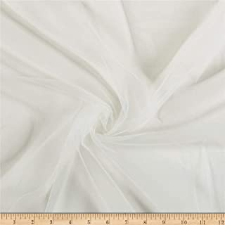 Ben Textiles Micro Mesh Fabric, Ivory, Fabric By The Yard