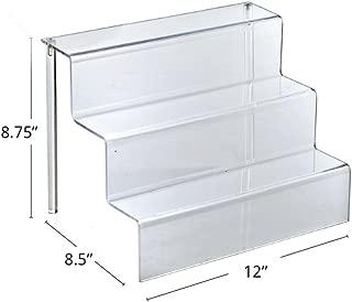 Azar 326043 12-Inch W by 8.5-Inch D Three-Tier Acrylic Step Display