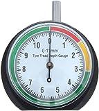 VERGO Medidor de Profundidad Banda de Rodamiento del Neumatico- Medidor de Dibujo de los Neumáticos - 0-11mm (0-0.43pulgadas) - 44mm Diametro de la Esfera - Bicicletas Coches Furgonetas Camiones