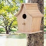 Caja de cría de pájaros Duradera, casita para pájaros de Textura Suave, Loros a Prueba de Humedad, Periquito para fácil observación Varios pájaros pequeños Regalo de Aves o