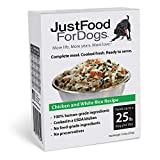 JustFoodForDogs Pantry Fresh Dog Food, Human Quality Ingredients Natural Ready to Serve Food for Dogs - Chicken & White Rice (Set of 6)