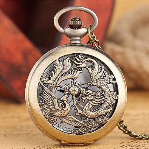 Taschenuhr Herrenmode Dragon Phoenix...