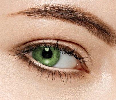 Farbige Kontaktlinsen 3 Monatslinsen hellgrün eis grün
