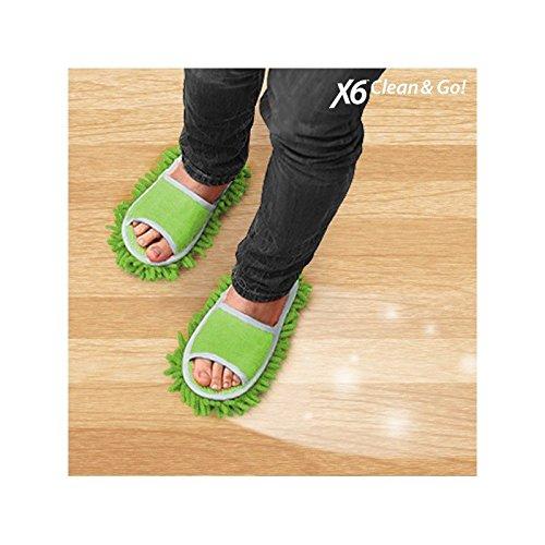 X6 Clean & Go Zapatillas Mopa, Chenilla,...