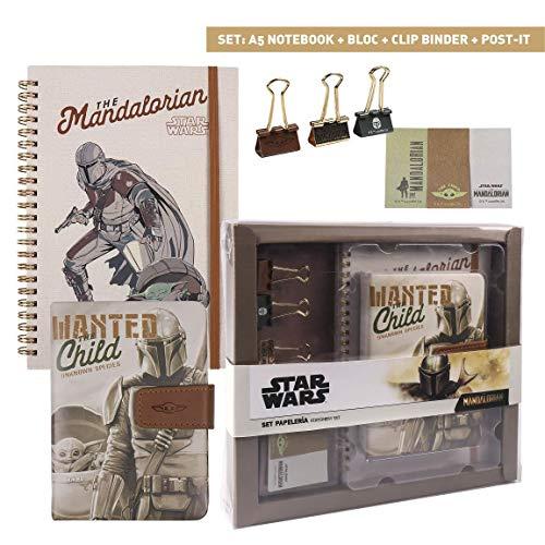 CERDÁ LIFE'S LITTLE MOMENTS Mandalorian The Child briefpapier set met notitieboek, notitieblok, stickers en clips…
